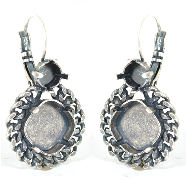 29ss and 12-12mm Sqaure with soldered chain earrings base