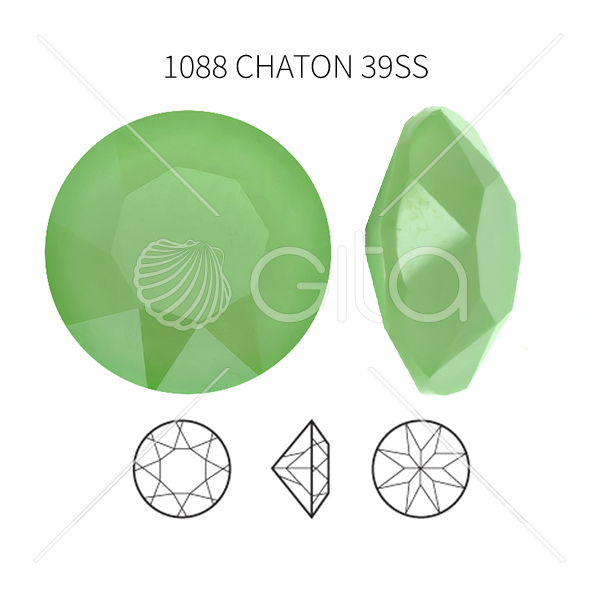 39ss/8mm Chaton 1088 Crystal Mint Green