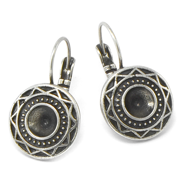 29ss Lever back Earring base with Aztec Pattern