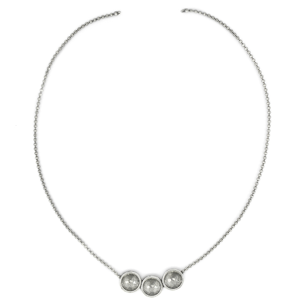 12mm Rivoli with 2mm ball chain Necklace base