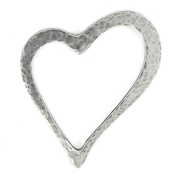 Heart shaped metal jewelry connector