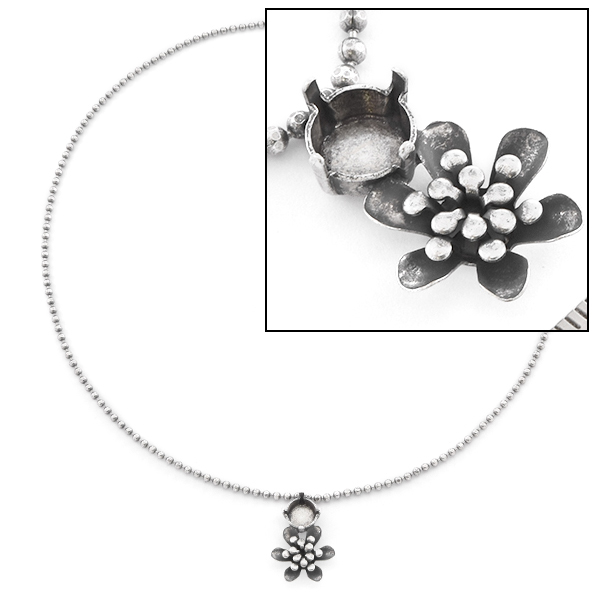 39ss Flower Solitaire chain Necklace base