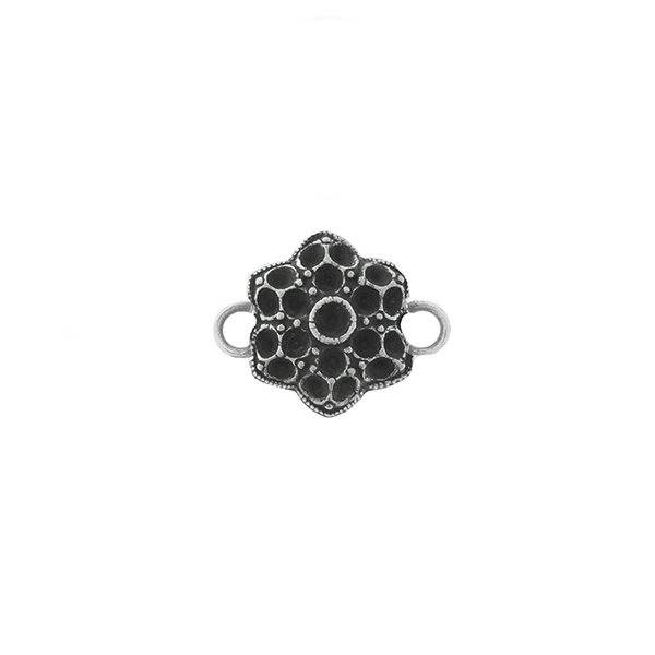 14pp, 18pp Small Decorative Flower metal casting Connector base with two side loops