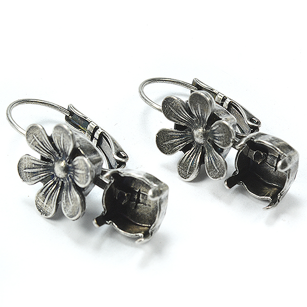 39ss cup chain Hanging Earring base with Daisy Flower