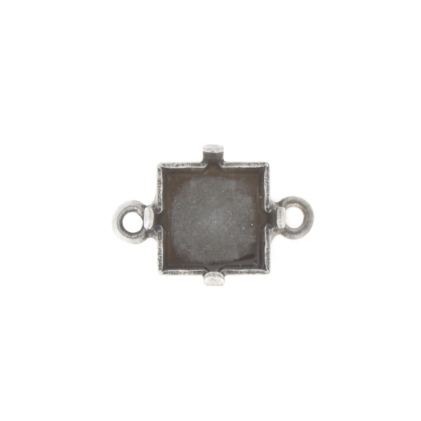 8x8mm Princess Square Stone setting with two side loops