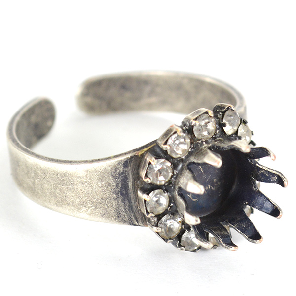 39ss/8mm Solitare crown setting ring base