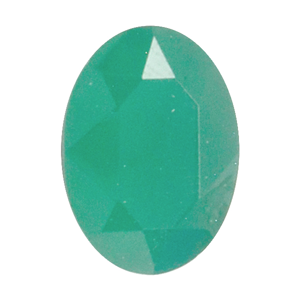Opaque Dark Green Glass Stone for Oval 13X18mm setting