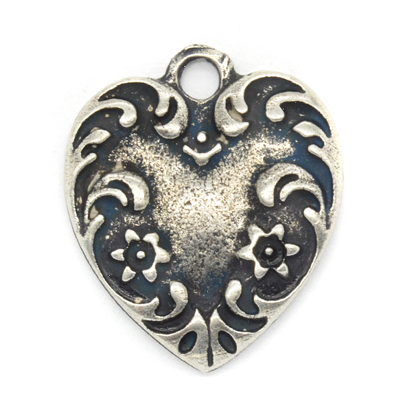Decorated Heart Charm