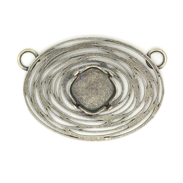 Spiral Oval Pendant base with 4470 12-12mm setting