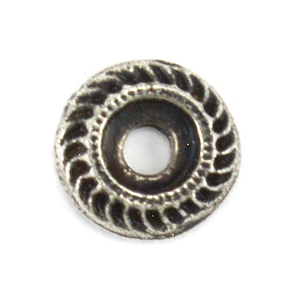32pp Hollow Round Metal Embedding element for 39ss setting - 4pcs pack