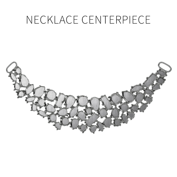 Mixed size Necklace centerpiece base with two side loops