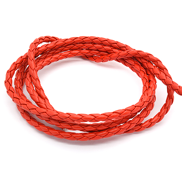 3mm Red color Imitation leather