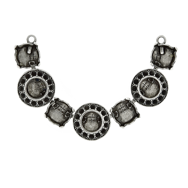 39ss cup chain and 8pp Hollow Circle metal casting elements Centerpiece for Necklace base