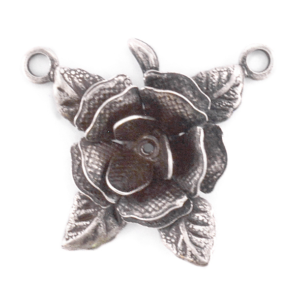 Flower Pendant base with two top loops