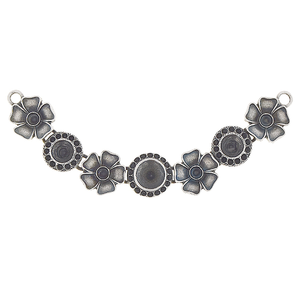 8pp, 24pp, 29ss, 39ss Metal flower inflexible Centerpiece for Necklace