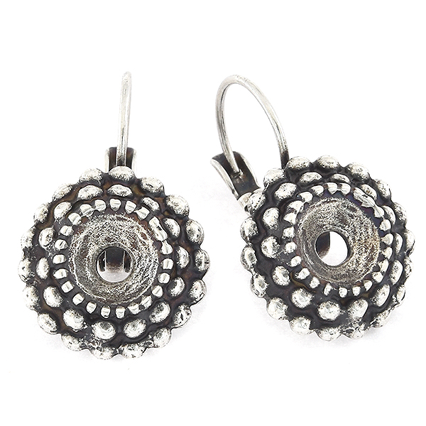 39ss Round Spotted Lever back Earring base