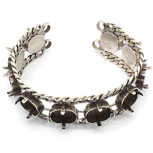 12-12mm Square Bracelet base with Gourmet