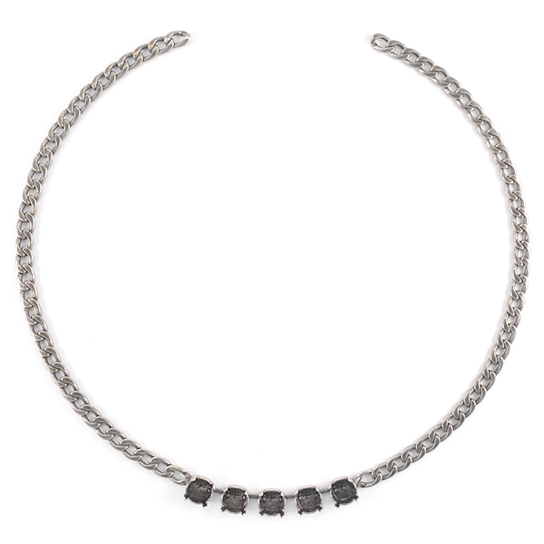 39ss with Gourmet chain Necklace base 40cm