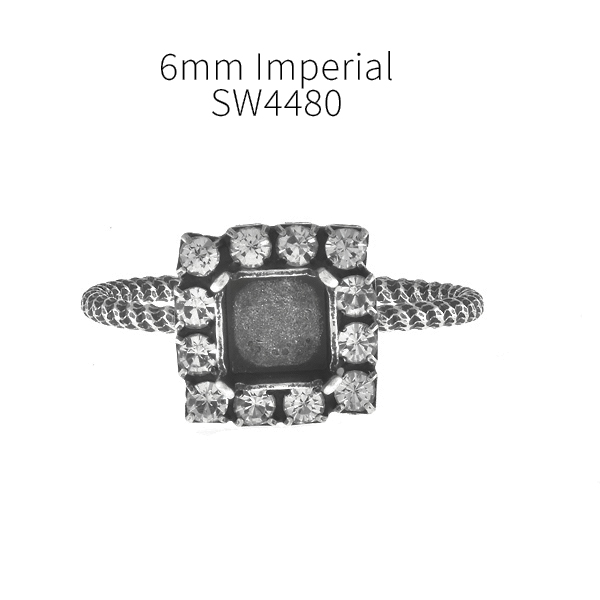 6mm Imperial 4480 Adjustable Thin ring base with Rhinestoness