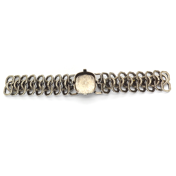 Rail Links chain with Square 12mm setting-Piece for bracelet