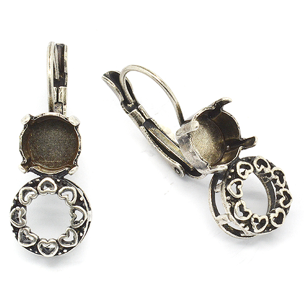39ss Hanging earring base 39ss Decorated Brass casting