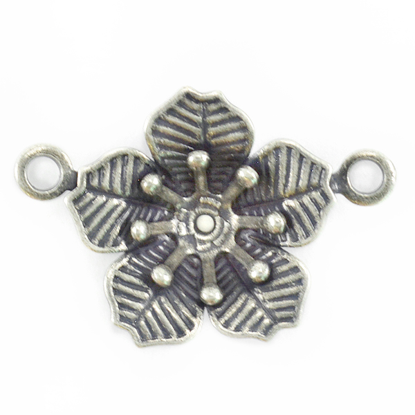 29ss Flower Pendant base with Two side loops