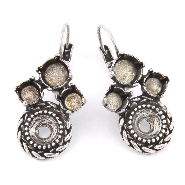 29ss, 39ss with Round Wheat element Earring base
