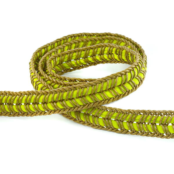 17mm Green Flexible fabric cord for jewelry making