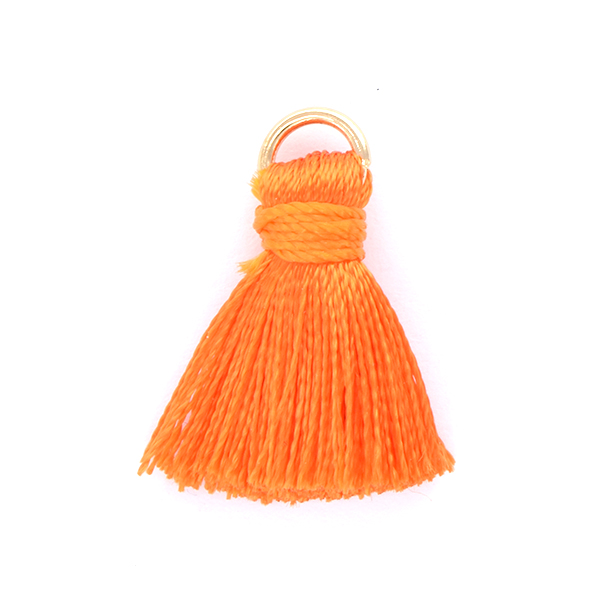 20mm Thread Tassels for jewelry making Orange color - 4pcs pack