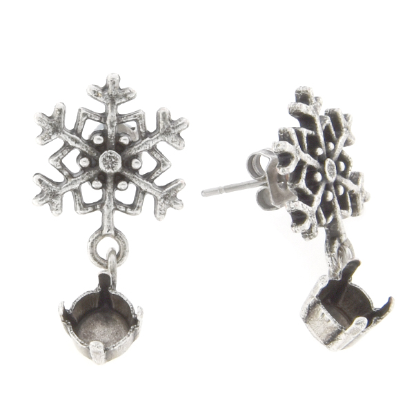 29ss with snowflake stud earring base