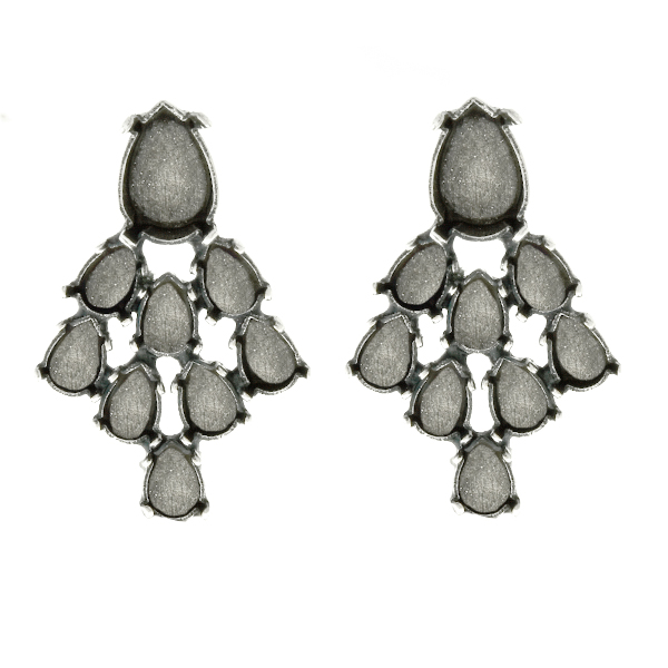 6x4mm and 10x7mm Pear shape Stud Earring bases