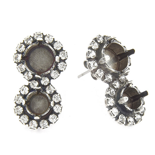 29ss, 39ss with Rhinestones Figure-eight Stud Earring base