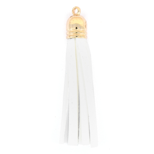 67mm Tassel for jewelry making White color