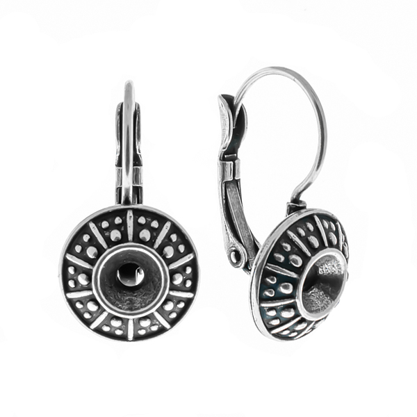 24ss Dotted metal casting Lever back earring bases