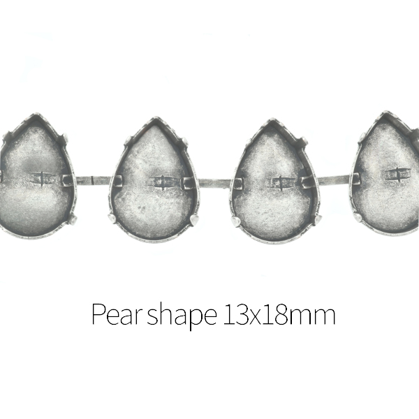 13x18mm Pear shape Cup chain for Bracelet - 1Meter