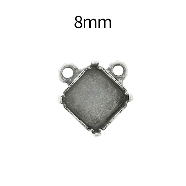 8mm Imperial 4480 Square Stone setting with two top loops