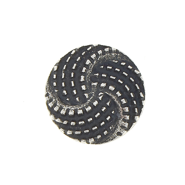 Round with dotted lines embedding element for 14mm Rivoli setting - 2pcs pack