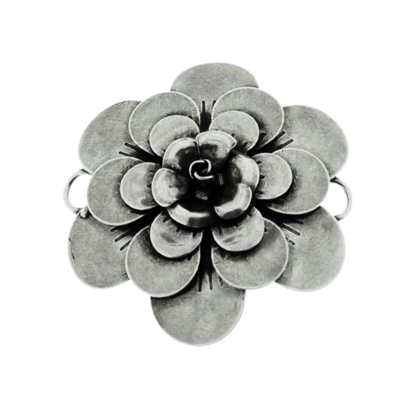 50mm Flower Stamping metal volumes element with two side loops Connector base