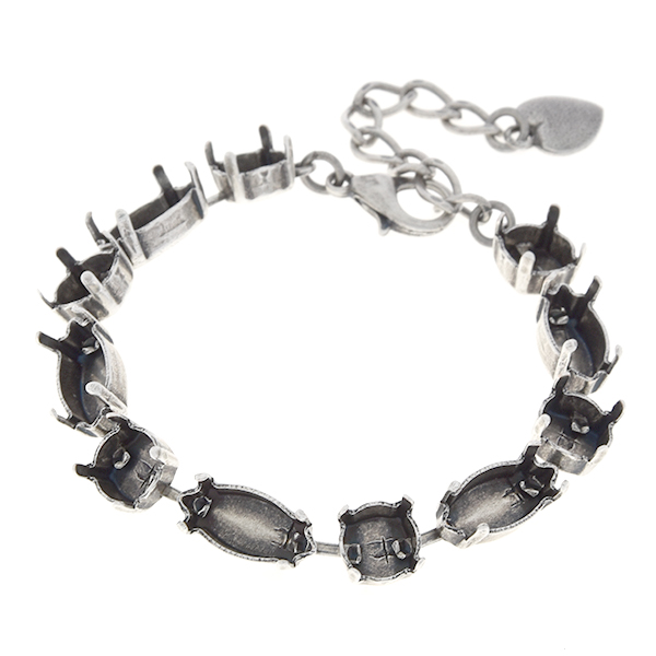 39ss, 15x7mm Navette horizontal empty cup chain almost finished bracelet
