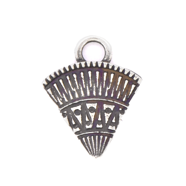 Ethnic Triangle shaped Charm with top loop