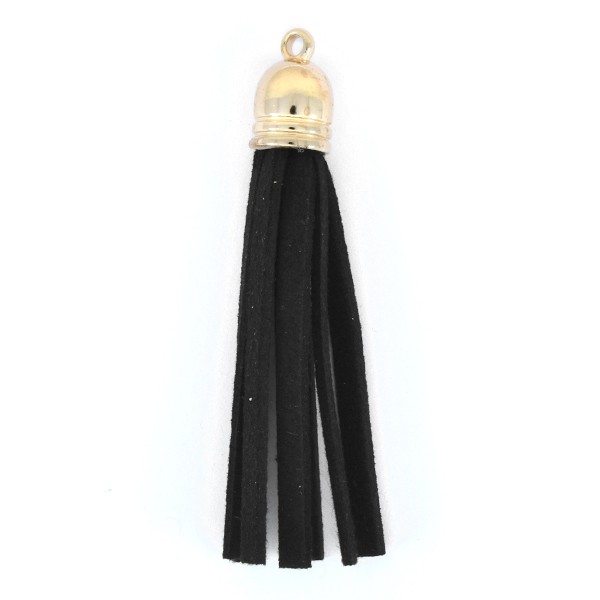 67mm Tassel for jewelry making Black color