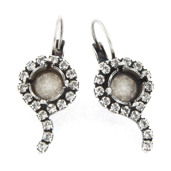 39ss with 14pp Rhinestones Lever back Earring base