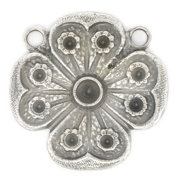 32pp, 18pp Flower Pendant base with two top side loops