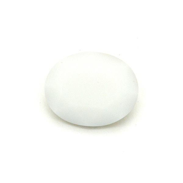 White alabaster Glass Stone for Oval 10X8mm-5pcs pack