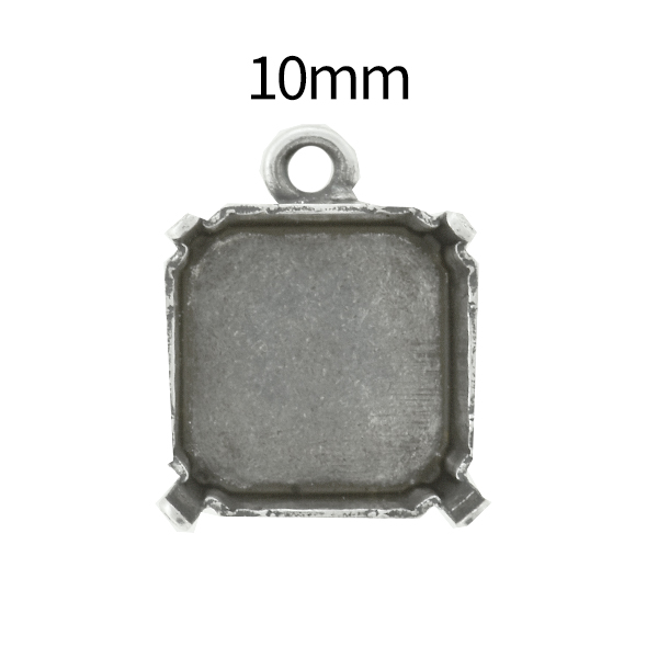 10mm Imperial 4480 Square Stone setting with top loop