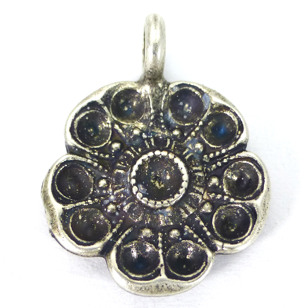 Flower 14pp and 16pp pendant base with top loop