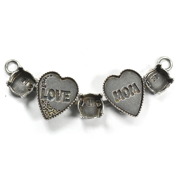 39ss 5 settings Love Mom Necklace center piece