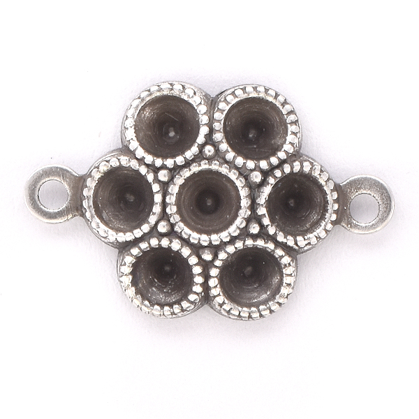 32pp Flower Jewelry Connector with 2 loops