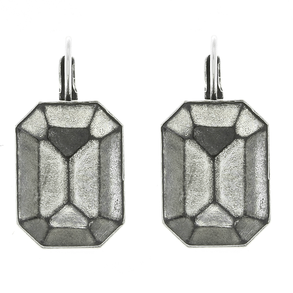 18x13mm Octagon Decorative stone settings Lever Back Earring bases