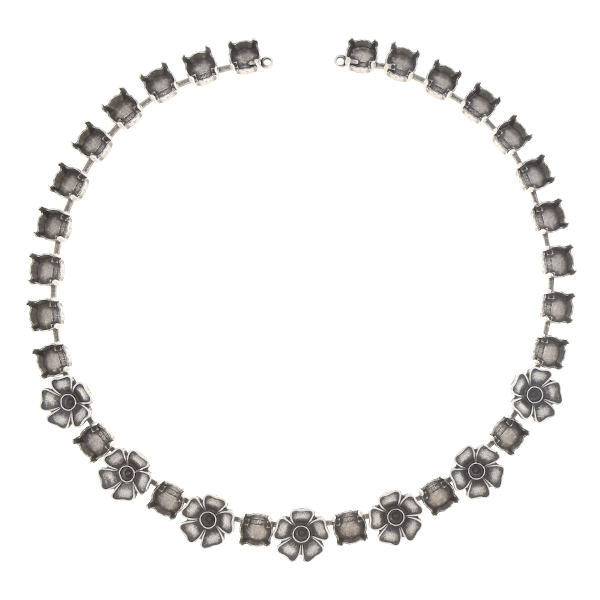 24pp, 39ss Cup chain necklace with metal flowers